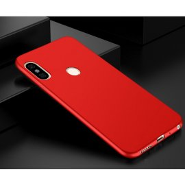 Funda Gel Xiaomi Mi 6X Flexible y lavable Mate Roja