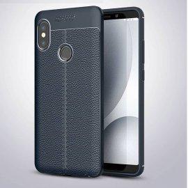 Funda Xiaomi Redmi Note 5 Tpu Cuero 3D Azul