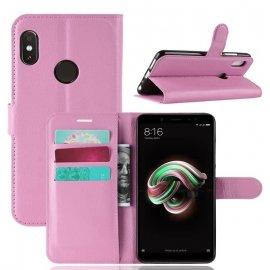 Funda Libro Xiaomi Redmi Note 5 Soporte Rosa