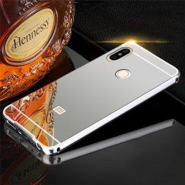 Bumper Xiaomi Redmi Note 5 Pro Aluminio Dual Plateado