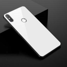 Funda Xiaomi MI 8 Silicone con trasera Cristal Templado Blanca