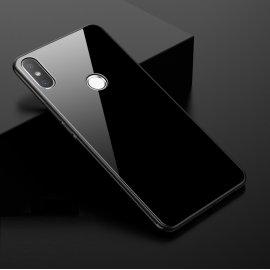 Funda Xiaomi MI 8 Silicone con trasera Cristal Templado Negra