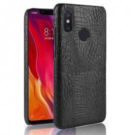 Carcasa Xiaomi MI 8 Cuero Estilo Croco Negra
