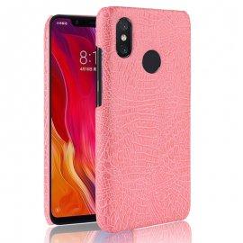 Carcasa Xiaomi MI 8 Cuero Estilo Croco Rosa