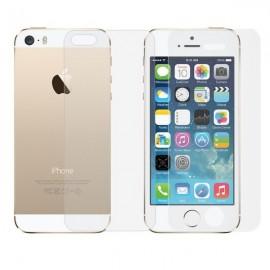 Doble Protector Cristal Templado Premium Iphone 5 DELANTE y DETRAS
