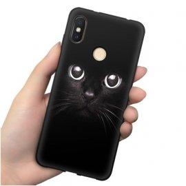 Funda Xiaomi MI 8 Gel Dibujo Gato Negro