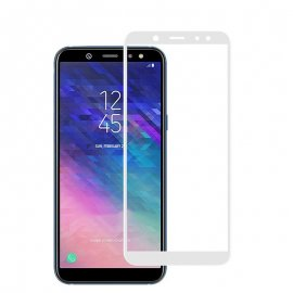 Protector Pantalla Cristal Templado Premium Samsung Galaxy A6 2018 Blanco