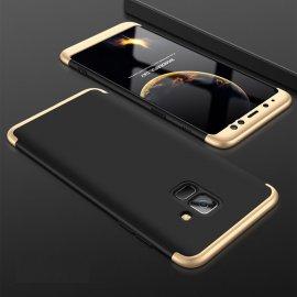 Funda 360 Samsung Galaxy A6 2018 Negra y Oro
