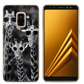 Funda Samsung Galaxy A6 2018 Gel Dibujo jirafa