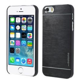 Funda Iphone 5 Aluminio Negra Moto