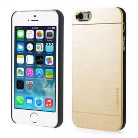 Funda Iphone 5S Aluminio Dorada Moto