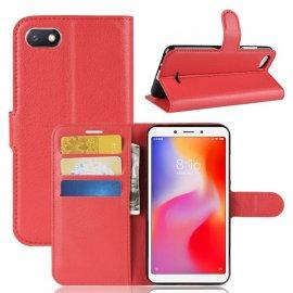 Funda Libro Xiaomi Redmi 6 Soporte Roja