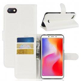 Funda Libro Xiaomi Redmi 6 Soporte Blanca