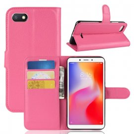 Funda Libro Xiaomi Redmi 6 Soporte Rosa