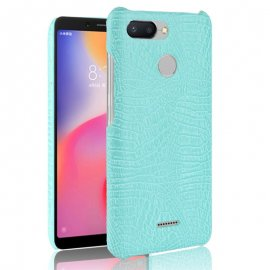 Carcasa Xiaomi Redmi 6 Cuero Estilo Croco Turquesa