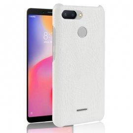 Carcasa Xiaomi Redmi 6 Cuero Estilo Croco Blanca