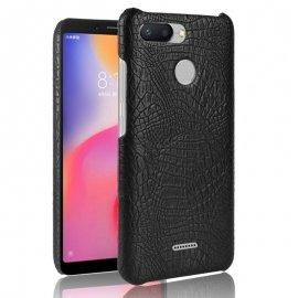 Carcasa Xiaomi Redmi 6 Cuero Estilo Croco Negra