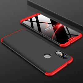 Funda 360 Xiaomi Mi A2 Lite Roja y Negra
