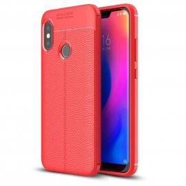 Funda Xiaomi Mi A2 Lite Tpu Cuero 3D Roja