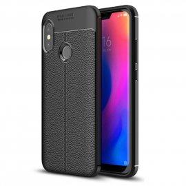 Funda Xiaomi Mi A2 Lite Tpu Cuero 3D Negra