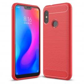 Funda Xiaomi Mi A2 Lite Tpu 3D Cepillada Roja