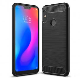Funda Xiaomi Mi A2 Lite Tpu 3D Cepillada Negra