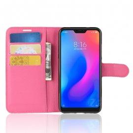 Funda Libro Xiaomi Mi A2 Lite Soporte Rosa