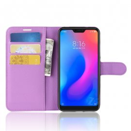 Funda Libro Xiaomi Mi A2 Lite Soporte Lila