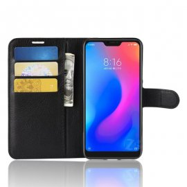 Funda Libro Xiaomi Mi A2 Lite Soporte Negro