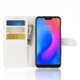 Funda Libro Xiaomi Mi A2 Lite Soporte Blanca