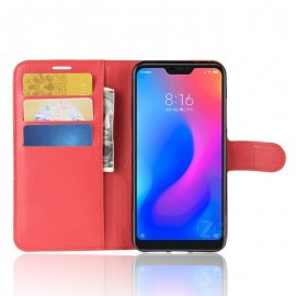 Funda Libro Xiaomi Mi A2 Lite Soporte Roja
