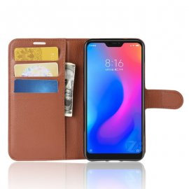 Funda Libro Xiaomi Mi A2 Lite Soporte Marron