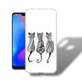 Funda Xiaomi Mi A2 Lite Gel Dibujo Gatos