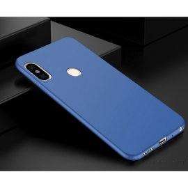 Funda Gel Xiaomi Mi A2 Lite Flexible y lavable Mate Azul