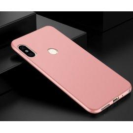 Funda Gel Xiaomi Mi A2 Lite Flexible y lavable Mate Rosa