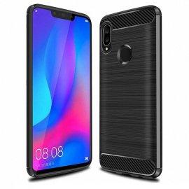 Funda Huawei P Smart Plus Gel Hybrida Cepillada Negra