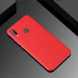 Funda Gel Huawei P Smart Plus Flexible y lavable Mate Roja