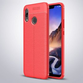 Funda Huawei P Smart Plus Tpu Cuero 3D Roja