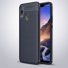 Funda Huawei P Smart Plus Tpu Cuero 3D Azul