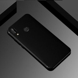 Funda Gel Huawei P Smart Plus Flexible y lavable Mate Negra
