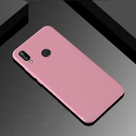 Funda Gel Huawei P Smart Plus Flexible y lavable Mate Rosa