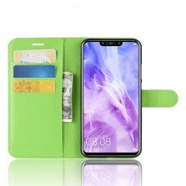 Funda cuero Flip Huawei P Smart Plus Verde