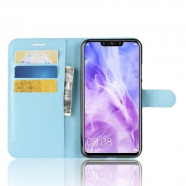 Funda cuero Flip Huawei P Smart Plus Azul