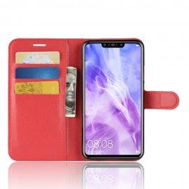 Funda cuero Flip Huawei P Smart Plus Roja