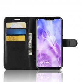 Funda cuero Flip Huawei P Smart Plus Negra
