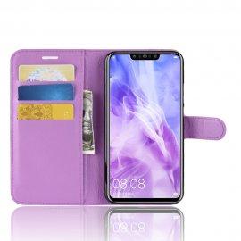 Funda cuero Flip Huawei P Smart Plus Violeta