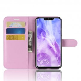 Funda cuero Flip Huawei P Smart Plus Rosa