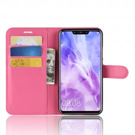 Funda cuero Flip Huawei P Smart Plus Fucsia