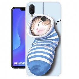 Funda Huawei P Smart Plus Gel Dibujo Gatito