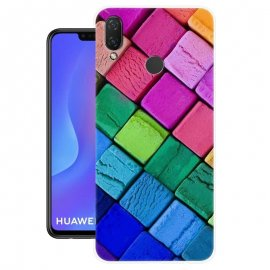 Funda Huawei P Smart Plus Gel Dibujo Cubos